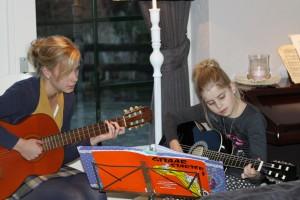 Foto gitaarles